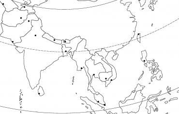 L'Asie du Sud et de l'Est (capitales)
