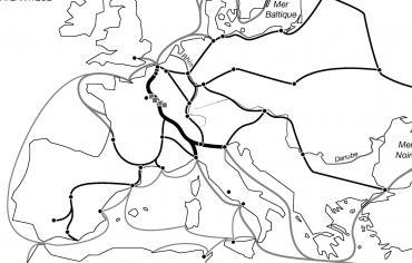 Villes et routes commerciales en Europe au XIIIe siècle