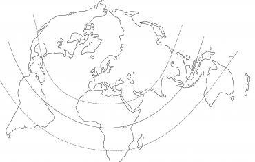 Planisphère projection Bertin