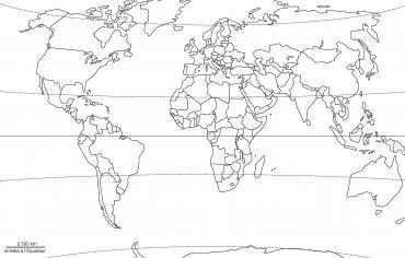 Planisphère projection Winkel (États)