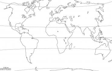 Planisphère projection Winkel