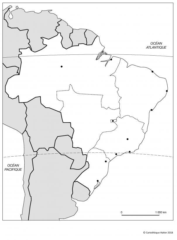 Le Brésil (villes)